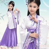 兒童古裝小仙女古風cos服女童舞蹈表演服唐裝 學生古裝便宜漢服女