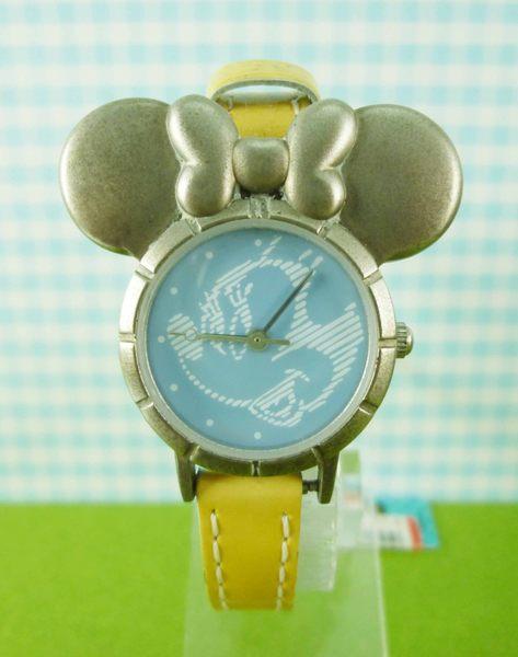 【震撼精品百貨】米奇/米妮_Micky Mouse~造型手錶-米奇大頭圖案-黃色