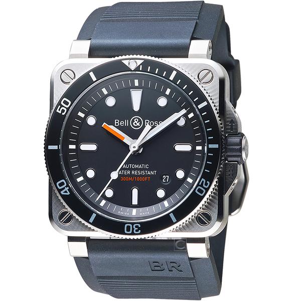 Bell & Ross DIVER 潛水機械腕錶 BR0392-D-BL-ST/SRB
