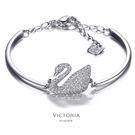 S925銀 優雅的名媛氣質天鵝手鍊-維多利亞171237