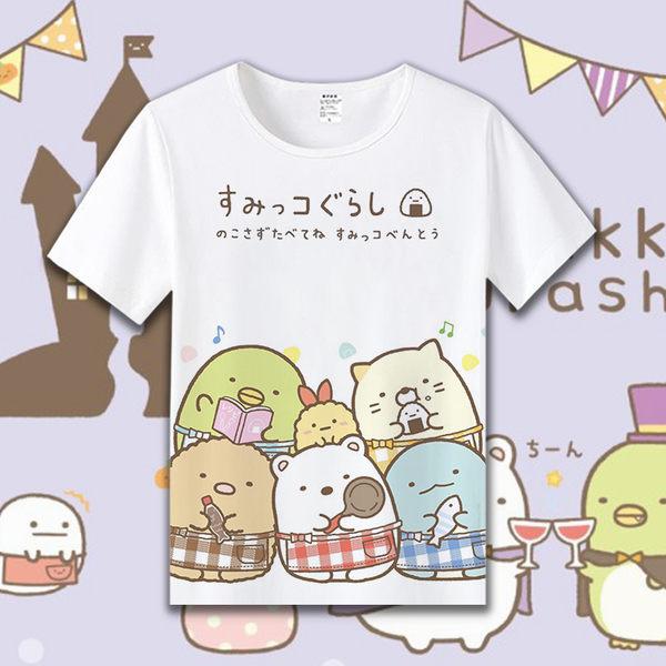 現貨 角落生物T恤 夏兒童短袖T恤 二次元 動漫 周邊 可愛短袖衣服 童裝 親子裝 情侶裝 墻角生物