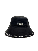 FILA 黑色白LOGO寬帽簷漁夫帽 htv1206bk