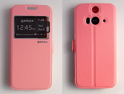 gamax HTC butterfly 2(B810x) 磁扣側翻手機保護皮套 視窗商務系列 側立 內TPU軟殼