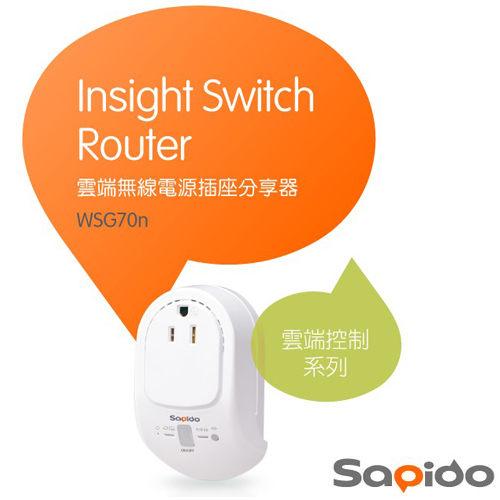 Sapido WSG70n 雲端 無線電源 插座 分享器