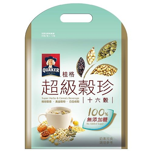 桂格超級無糖穀珍-十六穀28g*10入/袋【合迷雅好物超級商城】