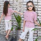 套裝女童夏裝2019新款時髦套裝韓版洋氣女孩衣服兒童短袖套裝潮童裝