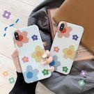 【SZ13】小清新花朵行李箱全包 iphone xs max手機殼 xr防摔手機殼 iphone 8 plus手機殼 i6s plus 手機殼