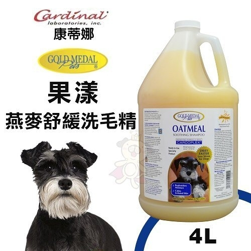 *King*Cardinal康蒂娜 果漾-燕麥舒緩洗毛精4L.適合乾燥、易癢皮膚.犬貓適用