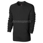 Nike T恤 NSW Tech Fleece Crew 黑 口袋 長袖上衣 男款 【ACS】 805141-010