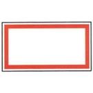 《享亮商城》1065 方形紅框 12*22mm  鶴屋