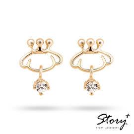《 SilverFly銀火蟲銀飾 》Purin Symbol-布丁狗符號純銀耳環