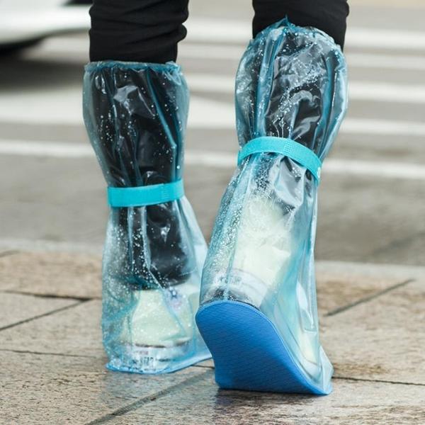 [超豐國際]透明高筒雨靴套男女防滑水鞋 成人戶外加厚耐磨防水雨鞋