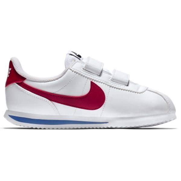 ◆NIKE Cortez Basic SL PSV 童鞋 休閒 阿甘 皮革 魔鬼氈 白藍紅 中童 904767-103