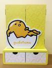 【震撼精品百貨】蛋黃哥Gudetama~蛋黃哥木製三折鏡雙抽櫃