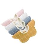 口水巾 口水巾棉質兒童防水圍嘴圍兜360度可旋轉新生兒童防吐奶圍脖秋冬