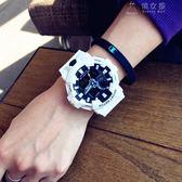 潮牌時尚潮流手錶男女學生韓版簡約大氣電子錶運動防水 俏女孩