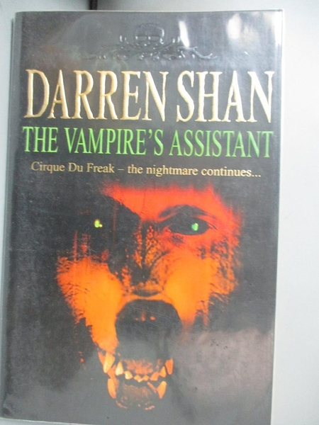 【書寶二手書T7/原文小說_NCJ】The Vampire's Assistant (The Saga of Darre