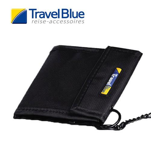 英國Travel Blue藍旅 TheCashCarrier防盜皮夾 黑色 卡夾|零錢包|短夾|休閒|旅遊|戶外TB771A