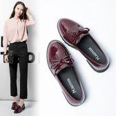 日系單鞋原宿風軟妹小皮鞋女英倫學院風低跟學生平底鞋  茱莉亞嚴選