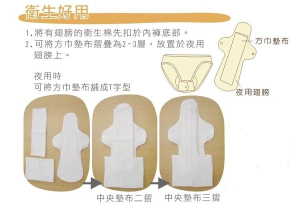 和諧生活-有機布衛生棉夜用組(1+2片)
