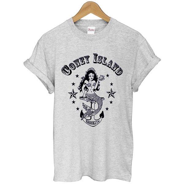 Coney Island Mermaid短袖T恤 3色 布魯克林紐約huf obey街頭文化滑板潮刺青搖滾韓美人魚290