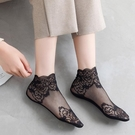 蕾絲襪子女花邊短襪淺口日系夏季薄款純棉底水晶絲仙女網紗船襪潮