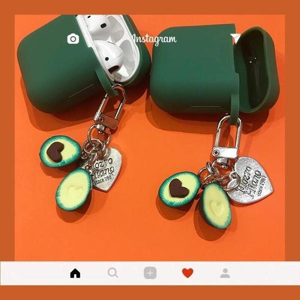 素色酪梨airpods保護套防摔酪梨Airpods保護套防塵airpods韓國airpods 露天拍賣