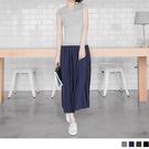 OB嚴選《CA702-》素色親膚柔軟鬆緊長裙.4色--適 S~XL