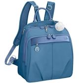 Kanana卡娜娜尼龍拼接皮革後背包M(水藍色)241009-15A