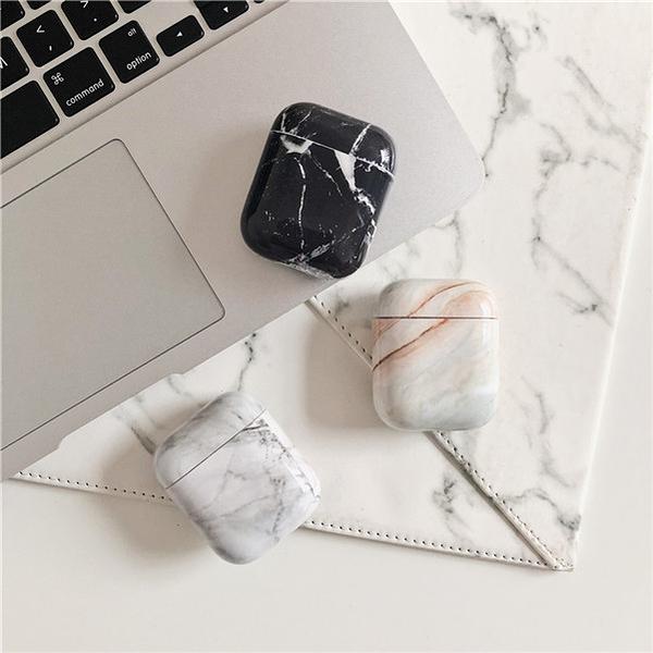 ? 新款 ? 獨家自制款 Airpods 藍芽耳機保護套 蘋果無線耳機保護套 韓國光面氣質大理石