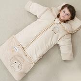 嬰兒防踢被 秋冬保暖加長版迷你小象新生兒睡袋