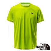 The North Face 男 FLASHDRY短袖圓領衫-鸚鵡綠 【GO WILD】
