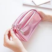 收納包 化妝包小號便攜韓國簡約大容量多功能品收納袋少女心隨身可愛方包 夢藝家