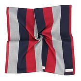 Calvin Klein 簡約拼色純綿帕巾(紅灰色)989091-260