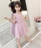 女童禮服公主裙夏新款韓版女孩超仙披肩蓬蓬婚紗裙連身裙HT750