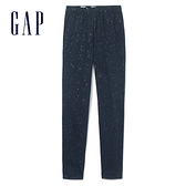 Gap女童 閃耀彈力針織打底褲 384973-藏青色