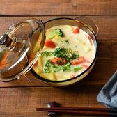 歐式茶色玻璃煲帶蓋湯碗泡面碗 LQ3193『夢幻家居』
