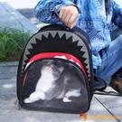 外出後背包貓咪書包鯊魚便攜透明狗狗包寵物【小獅子】