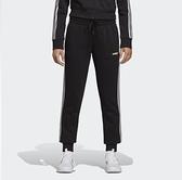 Adidas Essentials 3-Stripes 女款黑色三線經典長褲-NO.DP2380