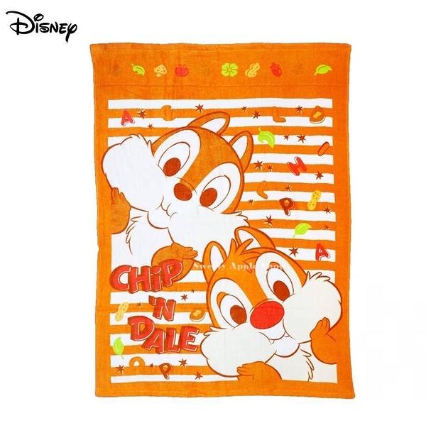 日本限定 丸真 迪士尼 奇奇蒂蒂 條紋英字 被毯( 85×115 )