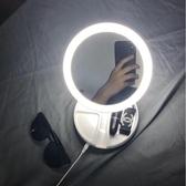 化妝鏡帶燈臺式LED360旋轉折疊學生桌面書桌補光公主鏡子 萬客城
