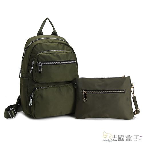 後背包-法國盒子.美式輕量多格層二件組(共三色)321+17002