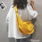 帆布大包包女包新款2020大容量側背斜背包純色百搭ins休閒布袋包 黛尼時尚精品