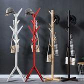 雙十二8折下殺置物架鐵架簡易實木質衣帽架落地式臥室掛衣架子客廳家用收納架置物架
