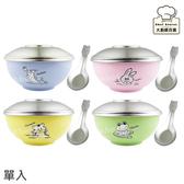 斑馬牌不銹鋼兒童隔熱碗(單入)附不銹鋼上蓋湯匙-大廚師百貨