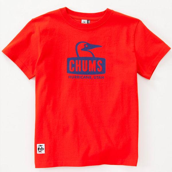 CHUMS 日本 男 Booby Face 純棉短袖T恤 火紅 CH011011R034