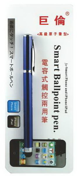 《☆享亮商城☆》A-1271 藍桿 電容式觸控兩用筆(原子筆) 巨倫