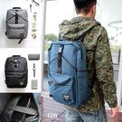 [ 潮流堂 ]-中性設計蜂巢減壓電腦包帆布後背包- 19980424
