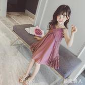 大女童公主裙吊帶裙子夏裝2018新款小女孩夏季連身裙韓版兒童蕾絲zzy1734【極致男人】