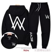 alan walker連帽T恤男潮韓版艾倫沃克休閒套裝嘻哈寬鬆大碼潮牌外套 雙12